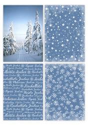 Kartonkilajitelma Joulu, sininen, A6