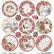 Ciao Bella Frozen Roses -skräppipaperi Medallions