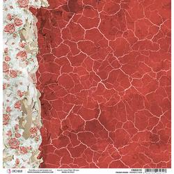 Ciao Bella Frozen Roses -skräppipaperi Frames & Tags
