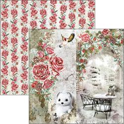 Ciao Bella Frozen Roses -skräppipaperi Frozen Roses