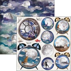 Ciao Bella Moon & Me -skräppipaperi Alarm Clock