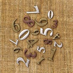 Finnabair Vintage Trinkets -metallikoristeet Mini Numbers