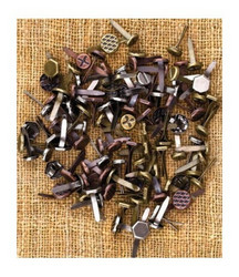 Finnabair Vintage Trinkets -haaraniitit Mini Brads Assorted Screws