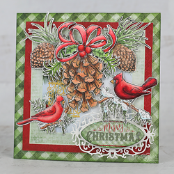 Heartfelt Creations Festive Pine Cones -leimasinsetti