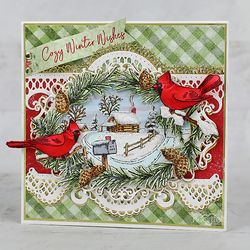 Heartfelt Creations Snowy Pine Cabin -stanssisetti