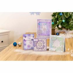 Sara Signature Glittering Snowflakes Vellum -paperipakkaus