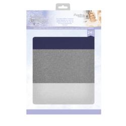 Sara Signature Glittering Snowflakes Luxury Glitter Card -kartonkipakkaus