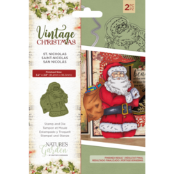 Crafter's Companion Vintage Christmas stanssi- ja leimasinsetti St Nicholas