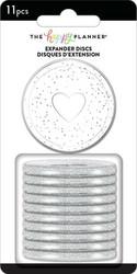 Mambi Happy Planner renkaat. Glitter Silver. 1.75