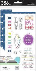 Mambi Happy Planner Dashboard -tarrapakkaus, Love Bark