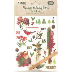 49 and Market Rub-Ons siirtokuvat Vintage Artistry Noel