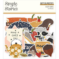 Simple Stories Cozy Days Bits & Pieces Die-Cuts, leikekuvat