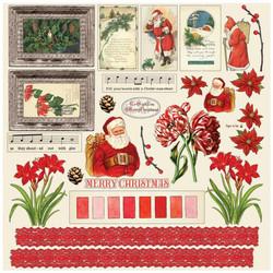 49 and Market paperipakkaus Vintage Artistry Noel, 12