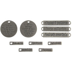 Tim Holtz Idea-Ology Metal Adornments -koristeet, Halloween Words