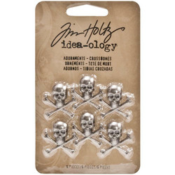 Tim Holtz Idea-Ology Metal Adornments -koristeet, Crossbones
