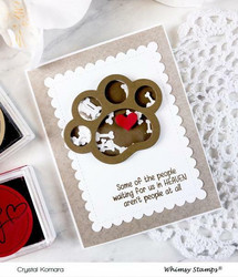 Whimsy Stamps Puppy Paws -stanssisetti