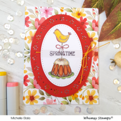 Whimsy Stamps Spring Ovals -stanssisetti