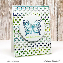 Whimsy Stamps Lattice A2 -stanssi