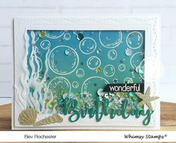 Whimsy Stamps Mini Bubbles Background -leimasin
