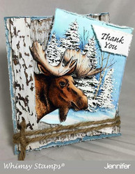 Whimsy Stamps Moose Head -leimasin