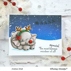 Whimsy Stamps Ellie the Special Reindeer -leimasin