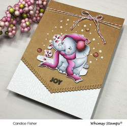 Whimsy Stamps Ellie's Candy Canes -leimasin