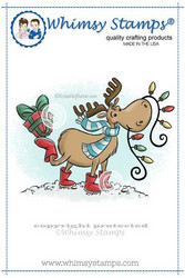 Whimsy Stamps Holiday Moose -leimasin