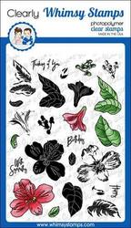 Whimsy Stamps Layered Peruvian Lily -leimasinsetti