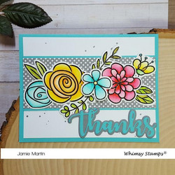 Whimsy Stamps Beaucoup Bouquet  -leimasinsetti