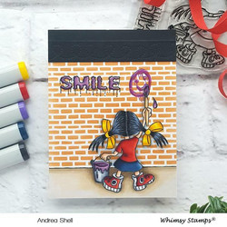 Whimsy Stamps Graffiti Girl -leimasinsetti