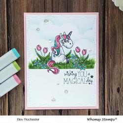 Whimsy Stamps Polka Dot Pals Mason -leimasinsetti