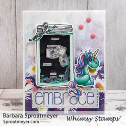 Whimsy Stamps Atlas Jar -leimasinsetti