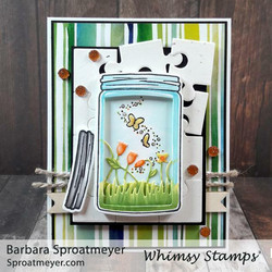 Whimsy Stamps Mason Atlas Jar -stanssisetti