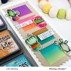 Whimsy Stamps Cute Cacti -leimasinsetti