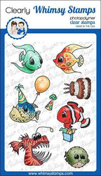 Whimsy Stamps Best Fishes -leimasinsetti