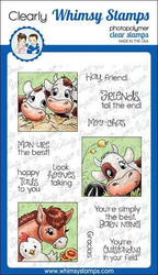 Whimsy Stamps Barnyard Squares -leimasinsetti