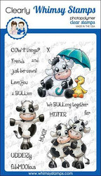 Whimsy Stamps Cow Friends -leimasinsetti