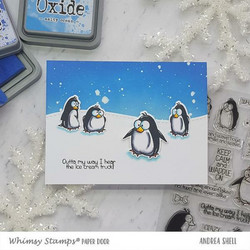 Whimsy Stamps Penguin Farts -leimasinsetti