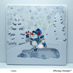 Whimsy Stamps Winter Wonderland Snowmen -leimasinsetti