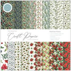 Craft Consortium paperipakkaus Festive Flora, 12