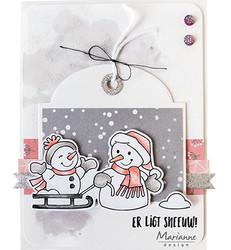 Marianne Design leimasin- ja stanssisetti Snowmen