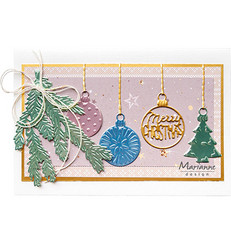 Marianne Design stanssisetti Merry Christmas Baubles