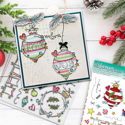 Polkadoodles Baubles & Banners Christmas -leimasinsetti