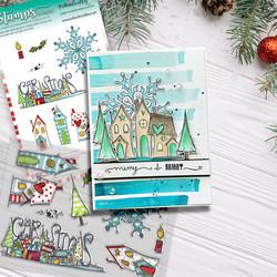 Polkadoodles Christmas Scenes -leimasinsetti