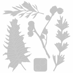 Sizzix Thinlits stanssisetti Natural Leaves