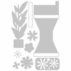 Sizzix Thinlits stanssisetti Pop-Up Plant Pot
