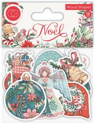 Craft Consortium Noel Wooden Shapes -koristeet