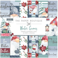 The Paper Boutique paperikko Winter Gnomes Embellishments, 8