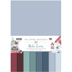 The Paper Boutique paperipakkaus Winter Gnomes Couloured Card Collection, A4