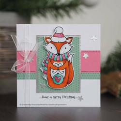 Woodware leimasinsetti Foxy Christmas